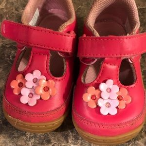 Stride Rite Pink Flower Mary Janes - Baby Size 5